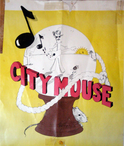 An old City Mouse Poster